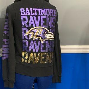 PINK Jackets & Coats - Ravens Hoody